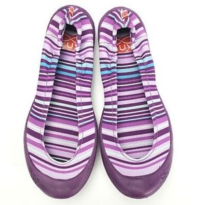 SALE! LUV Dream Flats Fiesta Stripe Dark Purple